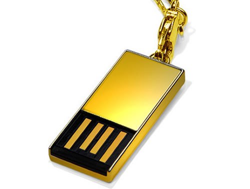 Golden USB Drive Adorable Flash Drives that are not just Flash Drives