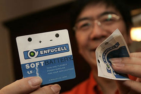 thin battery Paper battery is not just a concept
