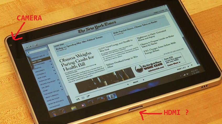 HP Slate to Support Video Conference, Flash and HDMI?