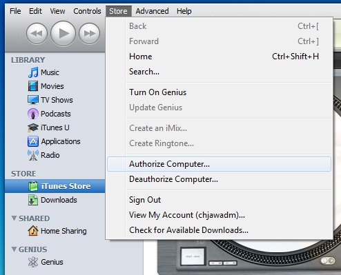 itunes How to Authorize Computer on itunes