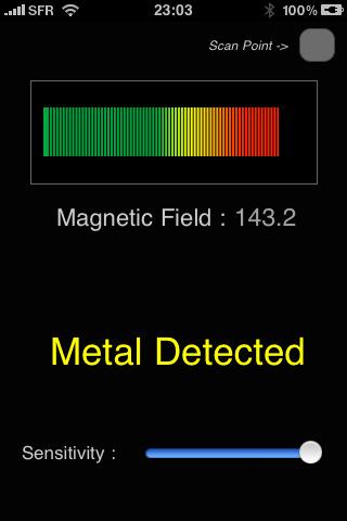 metal detector app1 Metal Detector App for iPhone and Windows Mobile