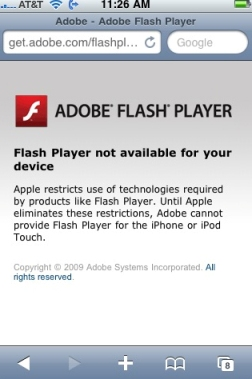 iphone flash message Flash Player 10.1 Beats HTML5   GPGPU Saves The Day for Adobe