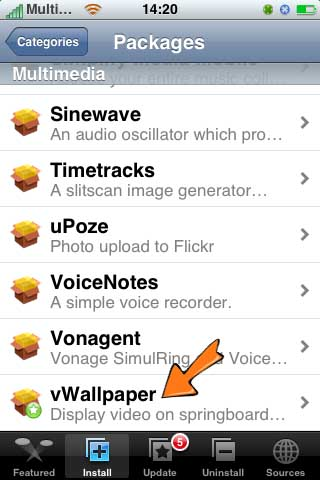 vwallpaper iPhone How to Install Live Animated HD Wallpapers on iPhone iOS 4