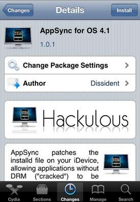 AppSync 4.1 Install AppSync 4.1 on iPhone and iPod Touch running iOS 4.1