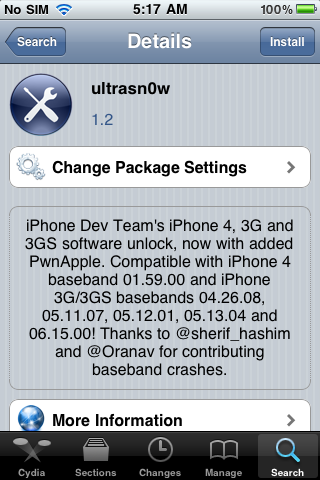 IMG 0063 How to unlock iPhone 3G / 3GS Baseband 05.14.02 & 05.15.04 using Redsn0w 0.9.6b5