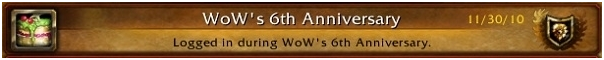 wow game World of Warcraft Celebrating its 6th Anniversary