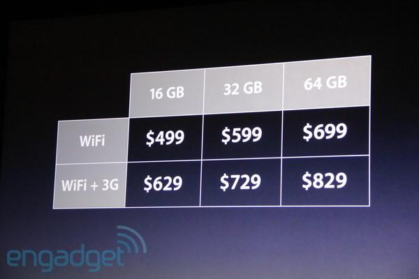 iPad 2 Pricing Model Apple announces iPad 2, iTunes 10.2 and iOS 4.3