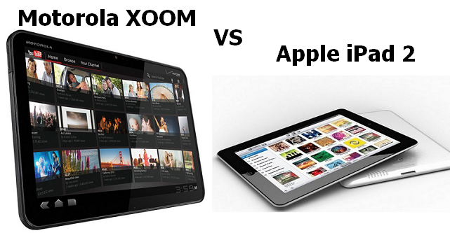 Tablet handling in comparison: Motorola Xoom vs Apple iPad