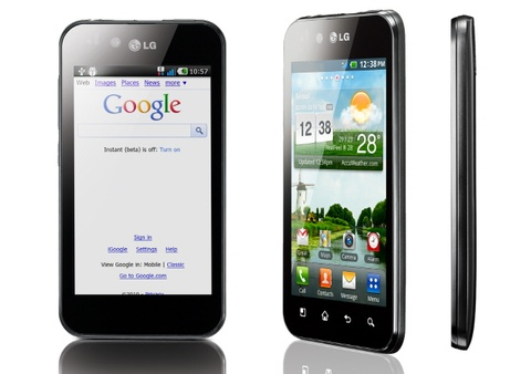 lg optimus black 480 LG introduces the Optimus Black in Korea