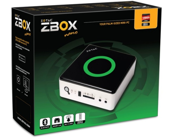 zbox box Zotac ZBox nano AD10 is a plam sized PC for just $276