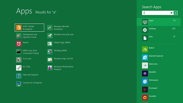 Search Windows 8 Features to Look For