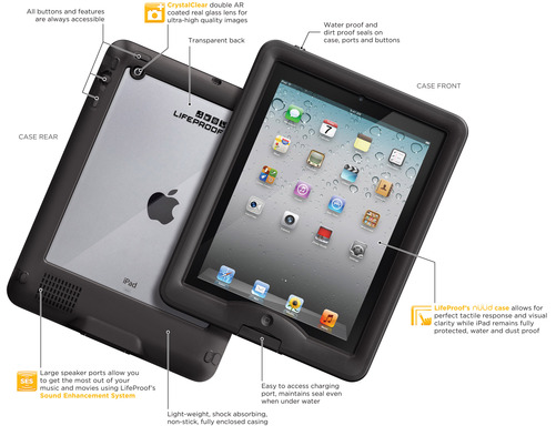 Water proof iPad case