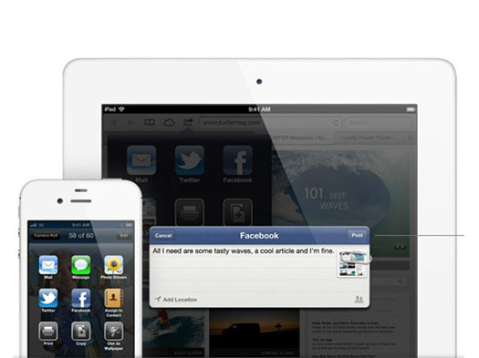 Facebook integration iOS 6 features, Whats New & Improved?