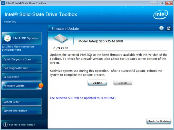 intel ssd firmware update 600x4491 Use Intel SSD Toolbox to get maximum SSD Performance