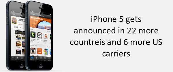 iphone iPhone 5 now available in 22 more countries and 6 additional US carriers