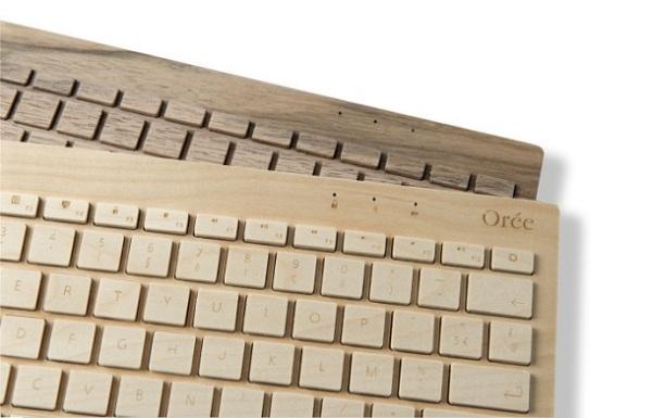 oree walnut and maple Wood + Tech + Design = Oree Wooden Keyboard