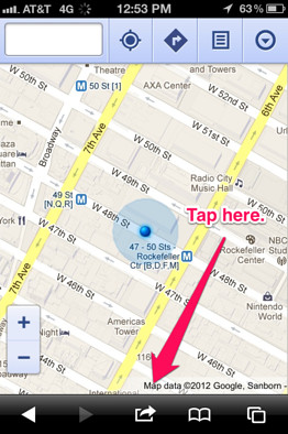 Googlemaps pin1 Get native Google Maps experience on iOS 6 with Maps+