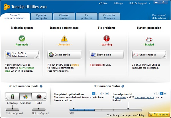 PC Tuneup 10 Optimize your system with Tune up utility 2013