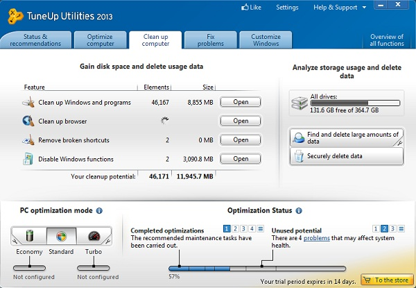 PC Tuneup 8 Optimize your system with Tune up utility 2013