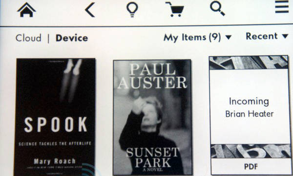 Paperwhite display sample Amazon' Paperwhite ebook reader review