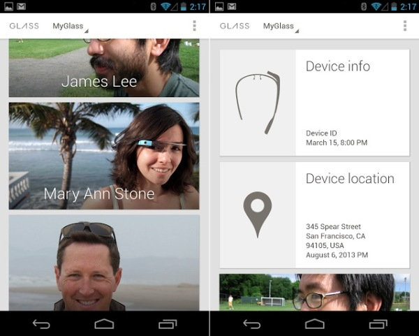 myglass app Google Launches MyGlass app for Android to manage your Glass device
